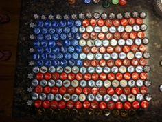 bottle cap art Bottle Cap Table, Bottle Cap Art, Bottle Top, Beer Bottle, Bottle Cap Projects, Bottle Cap Crafts, Recycled Bottles, Recycled Art, Fun Crafts