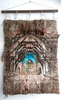 This piece is available to buy on www.ruthnorbury.com Art Base, Textile Art, Textiles, Urban, Creative, Artist, Artwork, Loneliness, Work Of Art