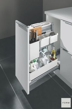 When you start a kitchen remodel project with us, we help you transform every corner of your kitchen with our intelligently designed modern kitchen cabinets and drawers. Check out our reviews here to see for yourself! Clever Kitchen Storage, Kitchen Drawer Organization, Kitchen Storage Solutions, Kitchen Cabinet Design, Kitchen Designs, Outdoor Kitchen Cabinets, Wooden Kitchen, Farmhouse Kitchen Decor, Kitchen Interior