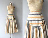 floral skirt / cotton floral midi skirt / high waist by DearGolden