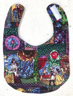 Buy Now Beauty and the Beast Baby Bib - Infant Bib - Dribble Bib - Disney bib - Baby Shower Gift - Baby Girl - beauty and the beast by BlackroseBaby. Hook And Loop Fastener, Mother And Child, Handmade Baby, Baby Bibs, Sewing Projects, Sewing Ideas, Beauty And The Beast, Baby Quilts, Baby Shower Gifts
