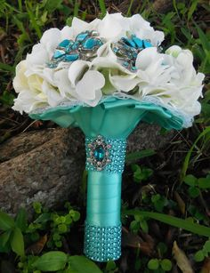Tiffany blue wedding Tiffany Blue Bouquet by AngelicasBridal, $210.00