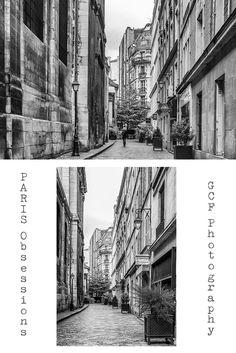 Paris Architecture Photo, Paris Streets Print, Black and White Wall Art, European City Photography, Contemporary Modern Picture, Hallway Art