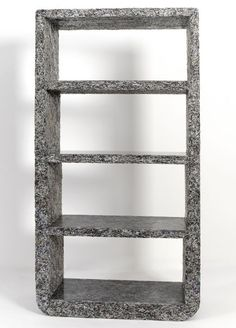 make furniture out of shredded magazines, a mold and clear resin