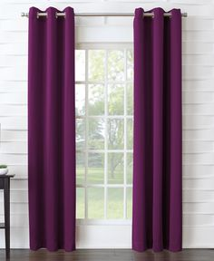 Sun Zero Talisha Grommet Room Darkening Window Curtain Panel x 95 - Magenta (Pink)) Kids Curtains, Cool Curtains, Orange Curtains, Panel Curtains, Pink Velvet Curtains, Insulated Curtains, Curtains Kohls, Curtains, Room Darkening