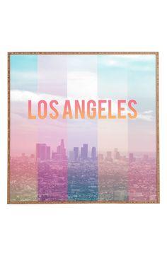 DENY Designs 'Los Angeles' Framed Wall Art available at #Nordstrom