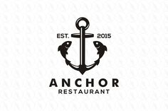 ANCHOR - $400 (negotiable) http://www.stronglogos.com/product/anchor #logo #design #sale #seafood #restaurant #market #fishery #shop