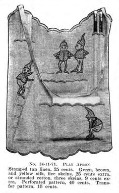 Priscilla Embroidery Pattern: Play Apron Pt. 1