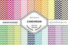 Chevron Digital Backgrounds Set by SugarStudios on Creative Market