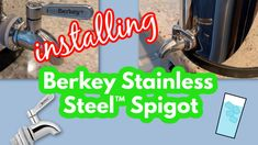Berkey Stainless Steel™ Spigot is a major upgrade for your stainless steel system and the cost is quite low for what you get.  It's heavy duty 304 food grade stainless steel and it will make your system look incredible!  Berkey's Stainless Steel Spigot will fit with all the stainless steel systems and makes the Berkey look more unified.  Watch this video carefully and share it with anyone who has a Berkey® or plans on getting one soon. Stainless Steel Washers, Water Purification, Disaster Preparedness, Homestead Survival, Water Filter, Food Grade, Filters, About Me Blog, How To Apply