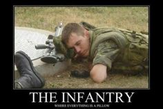 Image: The Infantry - Military humor. #infantry #pillow #rifle