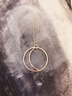 Gold Sun + Moon necklace // day + night // light + darkness // 14k gold filled // sun and moon jewelry // crescent moon // eclipse