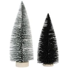Christmas trees - set of 2 ($29) ❤ liked on Polyvore featuring home, home decor, holiday decorations, black home decor, black white home decor, white home decor, christmas holiday decorations and christmas home decor