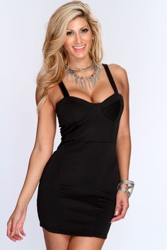 You can never go wrong with a LBD! Take this stylish dress out for an unforgettable night with your girlfriends! Make lasting impression, and add it to your wardrobe! Its essential for any girls collection! It features sweetheart neckline, light padded, and tight fitted. 95% Polyester 5% Spandex.