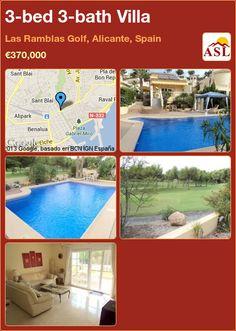 3-bed 3-bath Villa in Las Ramblas Golf, Alicante, Spain ►€370,000 #PropertyForSaleInSpain