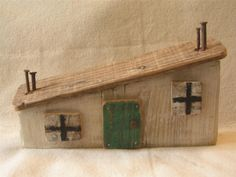 Driftwood Cottage from Ireland, The Turf Cutters Shack, Driftwood Art, Driftwood decoration