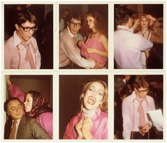 Yves Saint Laurent, Marina Schiano, Jerry Hall, Pierre Bergé, Paris, 1977 – Antonio Lopez