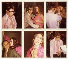 Yves Saint Laurent, Marina Schiano, Jerry Hall, Pierre Bergé, Paris, 1977 – Antonio Lopez