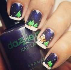 Best christmas nail art designsfor christian families, christmas season is no doubt the busiest occasion of all. to decorate your homes- indoor and outdoor, Nail Art Noel, Xmas Nail Art, Holiday Nail Art, Xmas Nails, Christmas Nail Art Designs, Winter Nail Art, Winter Nails, Christmas Nails, Snowman Nail Art