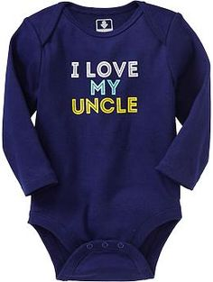 Graphic Long-Sleeve Bodysuits for Baby | Old Navy i love my uncle baby onesie so cute for R! wish it came in other colors!