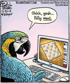 Grab Some Peanut Butter And We Are Golden - Comics from around the Web Bizarro Comic, Computer Humor, We Are Golden, Comics Kingdom, Funny Love, Funny Cartoons, Comic Strips, Dumb And Dumber, Laugh Out Loud