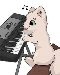 Lol here's a cat playing a piano (it's a gif). What even am I doing with my life. ( @JamesPotter1565)