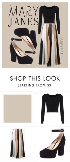 """""""Beige and Black - Mary Janes"""" by l-a-s-k ❤ liked on Polyvore featuring Roksanda and Gianvito Rossi"""
