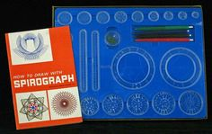 The Spirograph . Endless hours of fun. Love List, Spirograph, Old Toys, Childhood Memories, Drawings, Fun, Youth, Old Fashioned Toys, Sketches