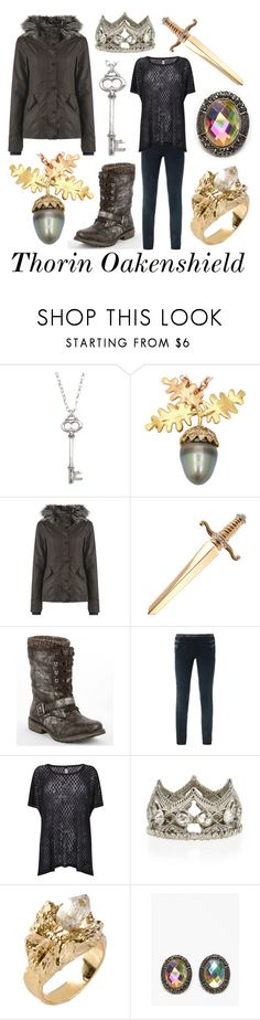 """""""Thorin Oakenshield"""" by captainrogers ❤ liked on Polyvore featuring Vivien Frank Designs, Bench, Roxy, Isabel Marant, Replay, Armenta, Tosca, Impulse, lotr and TheHobbit"""