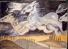 Horse Illustration, Irish Art, Favorite Words, Horses, Sky, Anime, Painting, Artists, Heaven