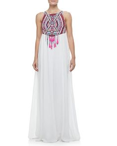Embroidered+Maxi+Dress+by+Mara+Hoffman+at+Neiman+Marcus.
