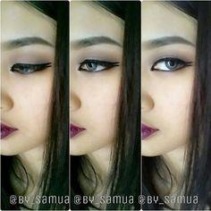 Wine dramatic lips #makeup