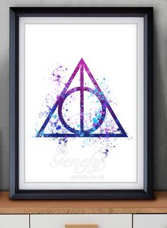 Harry Potter Deathly Hallows Watercolor Painting Art Poster Print Wall Decor  https://www.etsy.com/shop/genefyprints