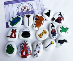 Room on the broom story stone set. by STORYSTONESLOU on Etsy
