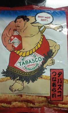 Tabasco Flavor Japanese Fried Rice-Snack (Shaped of Sumo Wrestler's Rope Belt)