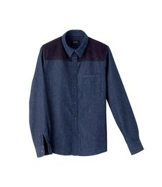 A.P.C. [2012SS]  SHIRT WITH IMITATION SUEDE INSET