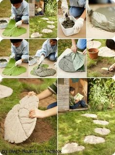DIY Leaf Craft Projects For Your Home and Garden diy garden stepping stones DIY Leaf Craft Projects For Your Home and Garden Diy Garden Projects, Garden Crafts, Garden Art, Garden Design, Craft Projects, Outdoor Projects, Craft Ideas, Garden Steps, Garden Paths