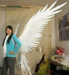 Imitation feather angel wings stage runway shows performances bird realistic
