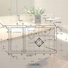 Master Bathroom Plans, Small Bathroom Floor Plans, Small Space Bathroom, Simple Bathroom, Modern Bathroom Design, Bathroom Ideas, Bathroom Designs, Bathroom Organization, Master Bathrooms