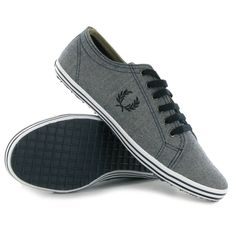 Fred Perry Kingston Winter Herringbone Blue White Mens Trainers