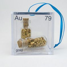 I want a set of these for the class room!   Gold - Periodic Table of Elements Cube Ornament on Etsy, $14.50