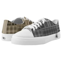 #Cool Mismatched Plaids Low-Top Sneakers - #giftideas #teens #giftidea #gifts #gift #teengifts