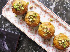Orange blossom & sesame muffins