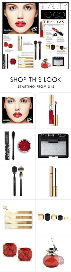 """BEAUTY TO GO . 14.11.2016"" by goharkhanoyan ❤ liked on Polyvore featuring beauty, Yves Saint Laurent, NARS Cosmetics, Chanel, MAC Cosmetics, Dolce&Gabbana, Kate Spade, Van Cleef & Arpels, polyvorecontest and travelbeauty"