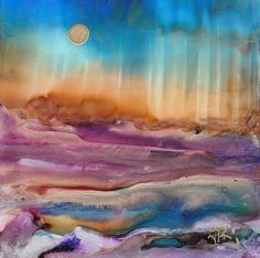 Alcohol Ink Dreamscaping On Yupo :) http://junerollins.com/junerollins.com/Home.html