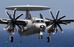 French Marine Nationale Grumman E-2C Hawkeye naval AWACS.
