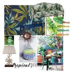 """""""tropical home set by roxariaone"""" by roxariaone ❤ liked on Polyvore featuring interior, interiors, interior design, home, home decor, interior decorating, Frontgate, Barclay Butera, David Francis Furniture and Dot & Bo"""