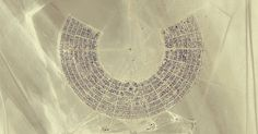 Black Rock City a.k.a Burning Man festival designed by Urban Planner Rod Garrett.