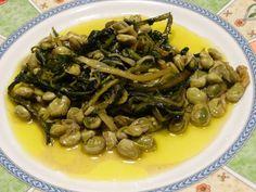 Una cenetta primaverile con un grande piatto della tradizione.... fave e cicoria....
