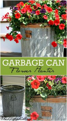 Garbage Can Flower P